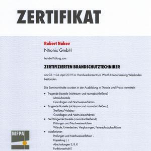 Zertifizierter Brandschutztechniker