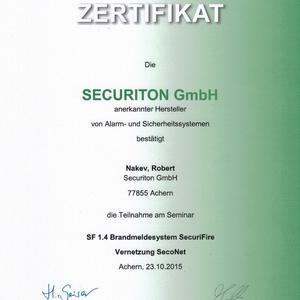 Brandmeldesystem SecuriFire Vernetzung SecoNet