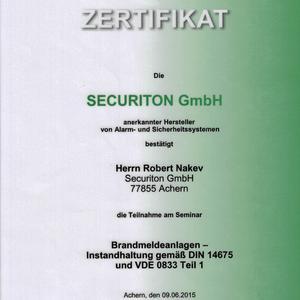 Instandhaltung Brandmeldeanlagen gemäß DIN 14675 und VDE 0833 Teil 1